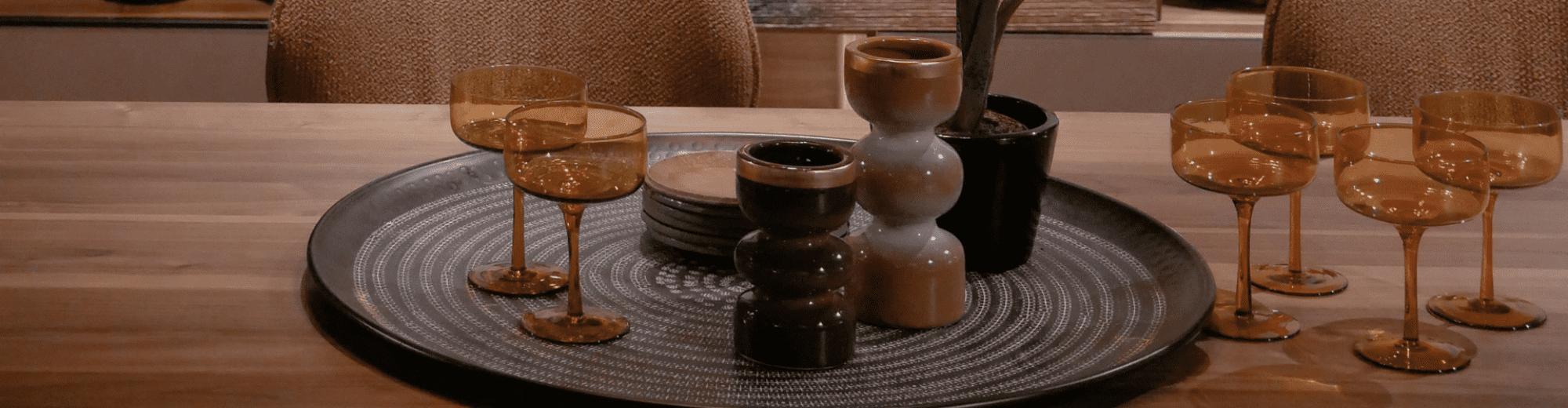 Verrerie et petite vaisselle vintage