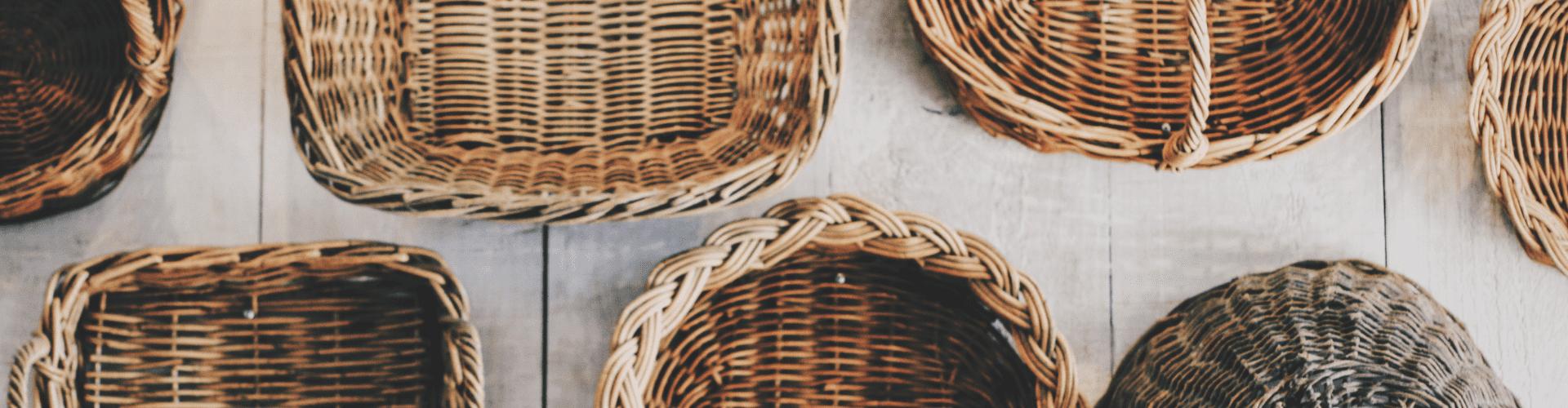 Paniers, corbeilles et porte-bouteilles